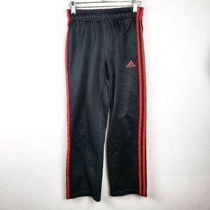 Adidas | Boys Youth Black Red Track Pants Medium